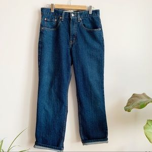 Levi's Slim Fit Blue High Waist Cropped 30 X 32
